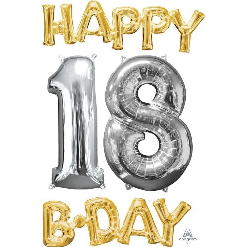 """Happy 18 B-Day"" Phrase & Number Bunch"
